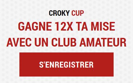 Croky Cup : 120 € de paris offerts pour 10 € avec le code LAD12