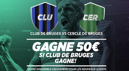 Derby de Bruges: 50 euros sur votre premier pari  avec Ladbrokes