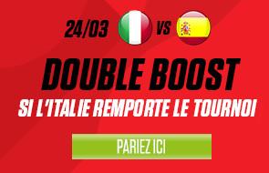 Doublez vos gains sur le vainqueur de l'Euro 2016 en pariant sur Italie x Espagne