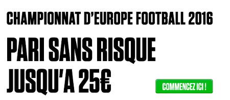 Euro 2016 : pari sans risque de 25 € offert par Ladbrokes