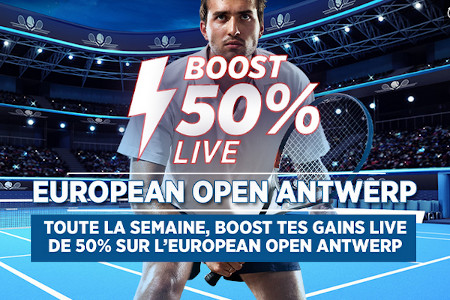ATP Anvers: Un Profit Boost live par jour avec  le bookmaker Ladbrokes