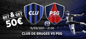 Club Bruges x PSG: Gagnez 5 fois votre mise sur  le PSG marque avec Ladbrokes