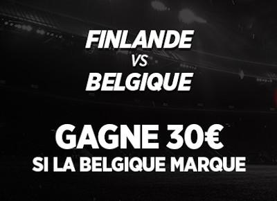 Belgique x Finlande : 30 euros si les Diables rouges marquent avec Ladbrokes