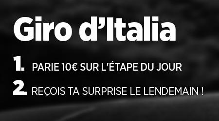 Tour d'Italie: Une surprise chaque jour en  pariant avec Ladbrokes
