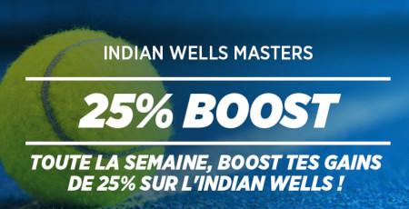 Indian Wells Masters: 25 % de gains en plus  chaque jour avec le bookmaker Ladbrokes