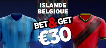 Islande x Belgique: Triplez vos gains sur votre premier pari  avec Ladbrokes