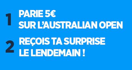 Pariez sur l'Australian Open et gagnez une surprise avec Ladbrokes