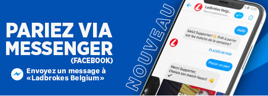 Pariez sur Messenger (Facebook)