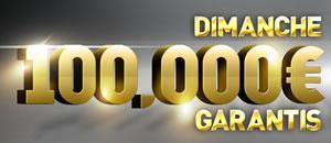 100.000 € garantis lors du tournoi du dimanche sur Ladbrokes.be