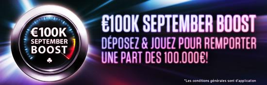 100.000 euros à gagner pendant le mois de septembre sur ladbrokes Poker