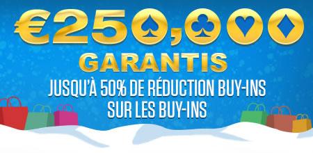 50% de réductions sur les buy-ins : 250.000 € garantis par Ladbrokes