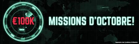 100.000 euros à gagner lors des missions d'octobre de Ladbrokes.be
