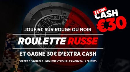 Roulette Russe: 30 € d'extra cash sur votre premier pari avec Ladbrokes