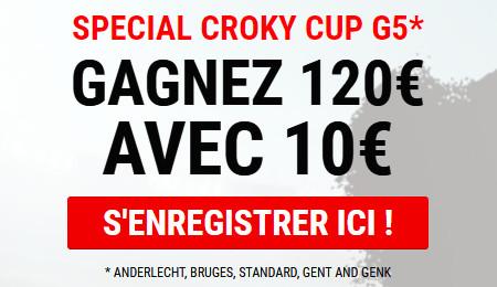 Croky Cup: 120 euros si Anderlecht, Bruges, Standard, La Gantoise et Genk gagnent