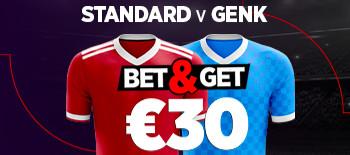 Standard x Genk: Triplez votre mise si un but  est marqué en pariant sur Ladbrokes