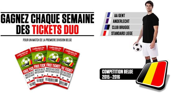 Pari multiple sur Ladbrokes = 1 chance de gagner 2 tickets pour un match