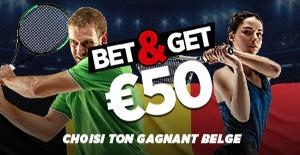 US Open : Pariez sur un joueur ou une joueuse belge et empochez 50 euros