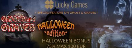 Profitez d'un bonus inédit de 75% pour Halloween