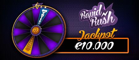 jackpot de 10.000 euros sur Rapid Rush