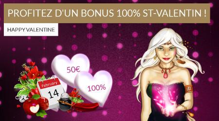 50 € de bonus pour la Saint-Valentin avec Lucky Games