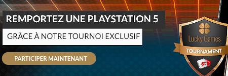 Une PlayStation 5 à gagner avec le tournoi Mega Spinner de LuckyGames