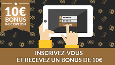 10 € de bienvenue sur Luckygames.be à l'inscription
