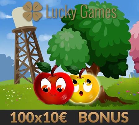 Lucky Apple : 100 bonus de 10 euros à gagner sur Luckygames.be