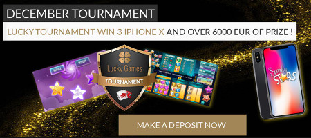 3 iPhones X à gagner lors du tournoi de décembre