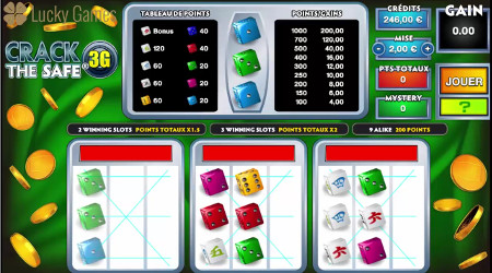 Crack The Safe 3G : Dice game sur LuckyGames.be