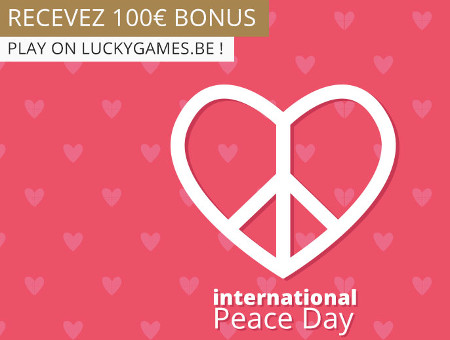 Journée internationale de la Paix : 55 % de bonus sur LuckyGames.be