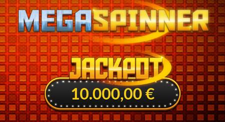 Jackpot sur Mega Spinner de LuckyGames de 10.000 euros