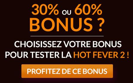 Profitez d'un bonus de 30% ou de 60% sur magicwin.be