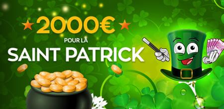 2.000 € de Super Bonus sur Magicwins.be pour la Saint Patrick