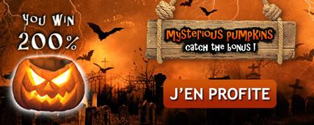 Mysterious Pumpkins 200 % de bonus sur MagicWins