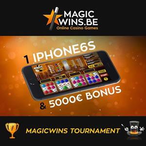 Gagnez un iPhone6 S et 5.000 € de cash sur MagicWins.be