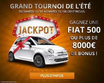 Une Fiat500 à gagner lors du tournoi d'été de magicwins.be