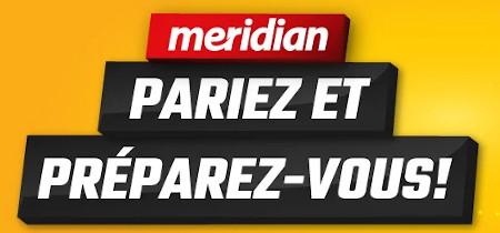 10 euros d'extra sur votre premier pari avec le bookmaker Meridianbet