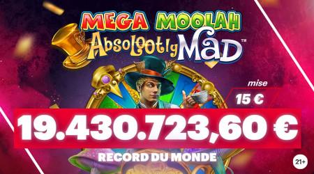 Jackpot de 19.430.723,60 € décroché par un Belge au  Napoleon Casino
