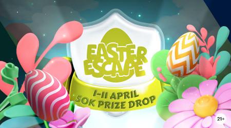 Easter Escape Prize  Drop: 50.000 euros distribués au hasard sur le casino Napoleon