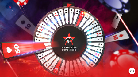Fortune Wheel: Gagnez jusqu'à 50 euros en plus  au blackjack avec le Casino Napoleon
