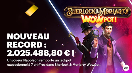 Jackpot de 2.025.488,80 € gagné au Napoleon Casino