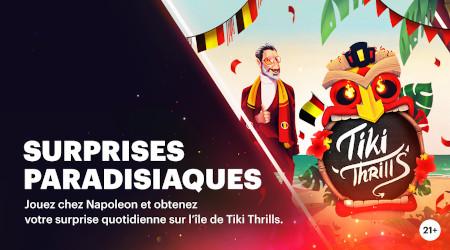 Tiki Thrills: Gagnez une visite quotidienne  grâce au casino Napoleon