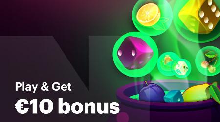 10 euros de bonus en jouant à Multi Jackpot Dice ou Multi Jackpot  Fruits<