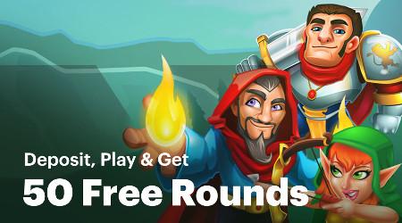 Bonus dépôt de 50 free spins au casino Napoleon Games