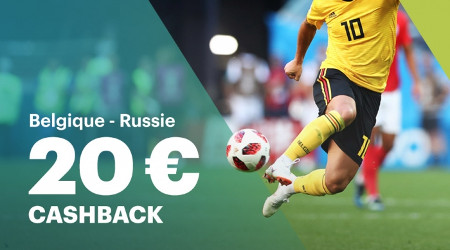 Belgique x Russie: 20 € de cashback si votre joueur ne marque pas
