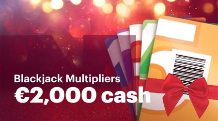 2.000 euros à gagner avec les Blackjack Multipliers