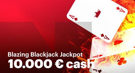 Gagnez 10.000 euros avec Blazing Blackjack Jackpot