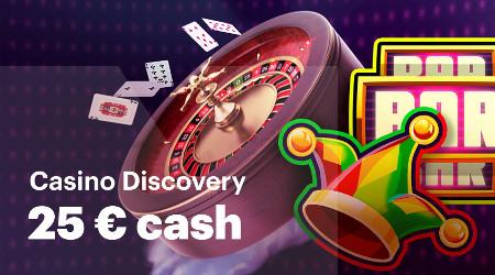 25 euros à gagner en jouant au Live Casino et au Poker Pro