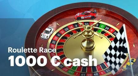 1.000 euros à gagner avec The Roulette Race