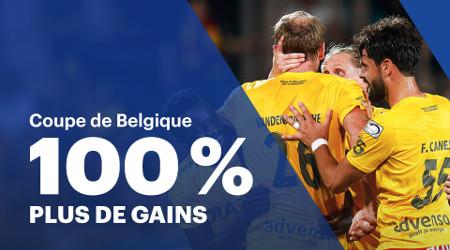 100% de gains en plus pour la Coupe de Belgique
